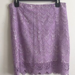 lace lavender skirt